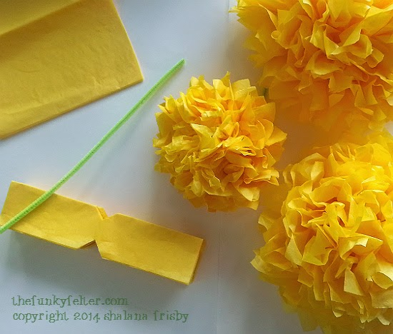 The Funky Felter: DIY Tissue Paper Flowers Craft Tutorial