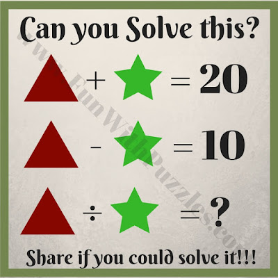 Easy math puzzle for kids