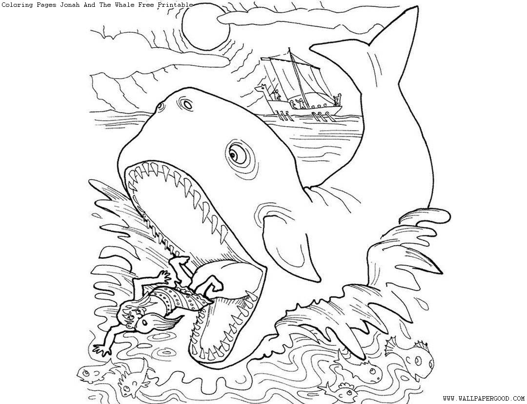 Free Coloring Pages Jonah And The Whale Simple