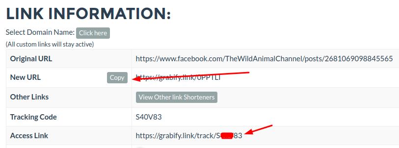 send link & track