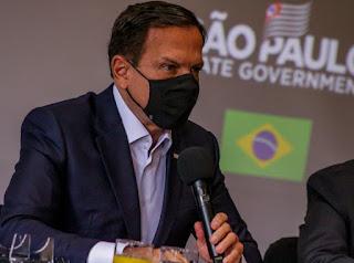 Doria diz que vacinação contra Covid-19 em SP começa no dia 25 de janeiro