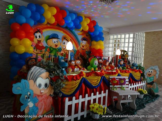 Aniversário Turma da Mônica - Decoraão festa infantil em mesa tradicional luxo