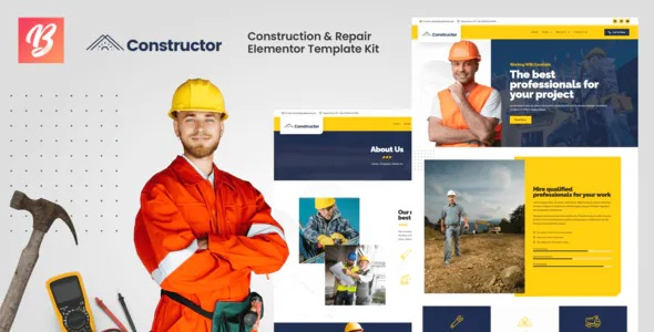 Best Construction and Repair Elementor Template Kit