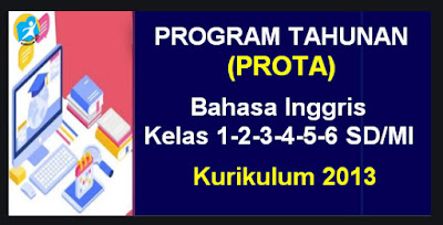 Program Tahunan (Prota) K-13 Mulok Bahasa Inggris Kelas 1-2-3-4-5-6 SD/MI
