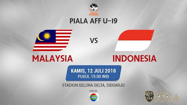 Prediksi Malaysia U-19 Vs Indonesia U-19, Kamis 12 Juli 2018 Pukul 19.00 WIB @ Indosiar