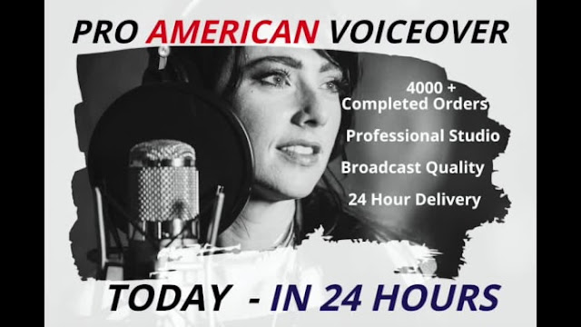Record a professional american voiceover in 24 hours - hire a singer - professional voice message