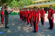 Prajurit Kostrad Latih PBB Di SMK Muhammadiyah 2 Jatinom Klaten