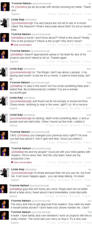 Linda and Yvonne tweet