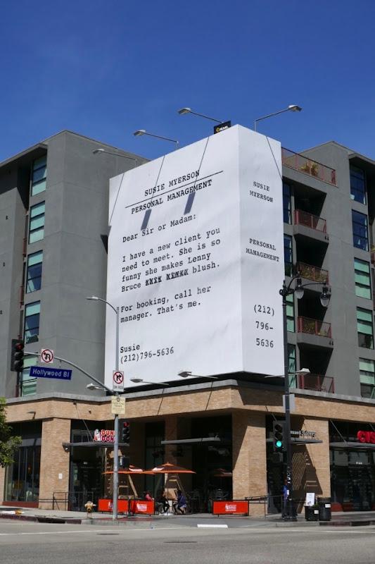 Marvelous Mrs Maisel Emmy FYC billboard Argyle Avenue