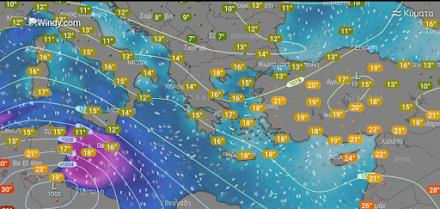 Τοπικές βροχές αύριο στα δυτικά, ανατολικά και βόρεια - Ευνοείται η μεταφορά αφρικανικής σκόνης