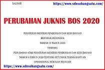 PERUBAHAN JUKNIS BOS REGULER PERMENDIKBUD NOMOR 19 TAHUN 2020 SD SMP SMA SMK