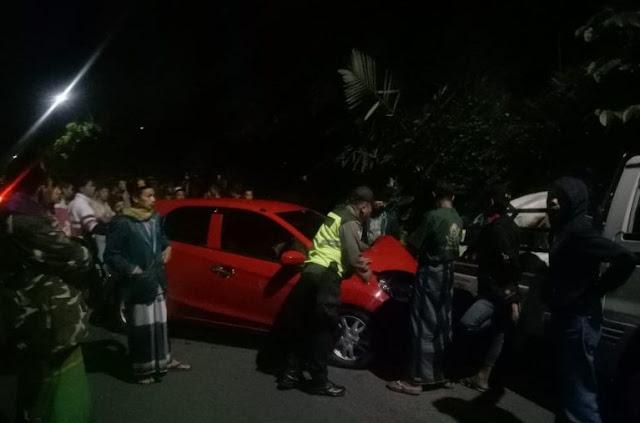 Tabrakan Honda Brio vs Pick Up Di Karangreja, Satu Orang Tewas