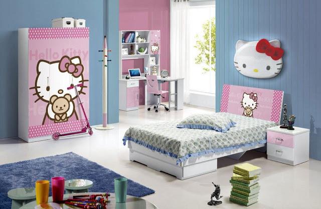 Trang tri phong ngu Hello Kitty dep 03