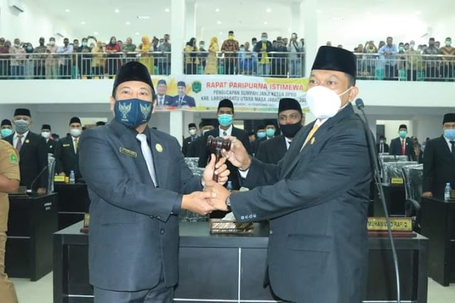 Ketua DPRD Kabupaten Labuhanbatu Utara Masa Bakti 2019 - 2024 Dilantik