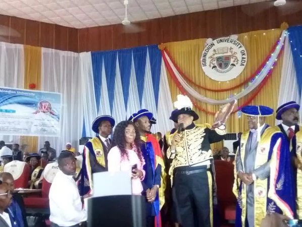 Tuface conferment at Igbinedion University benin city okada