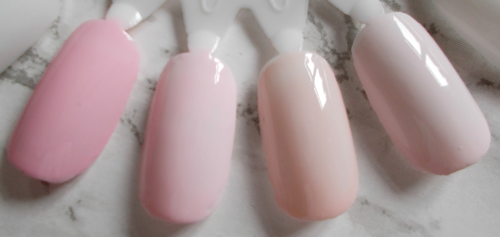 spring summer nail polishes glossier pink nails inc chiltern street barry m rose hip opi bubble bath essie fiji swatches