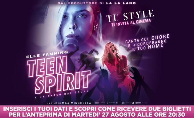 clicca qui per ottenere due inviti gratis per il film Teen Spirit A un passo dal sogno