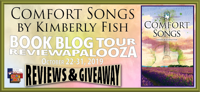 Comfort Songs book blog tour promotion banner