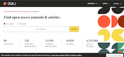 Tampilan Directory of Open Access Journal