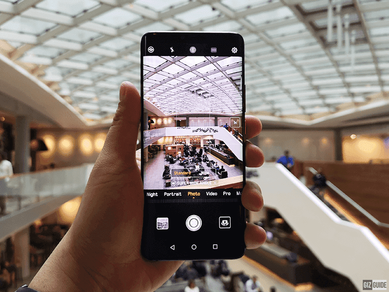 Normal and wide camera modes