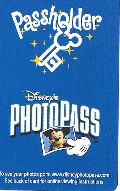 Disney World Passholder Photopass Card