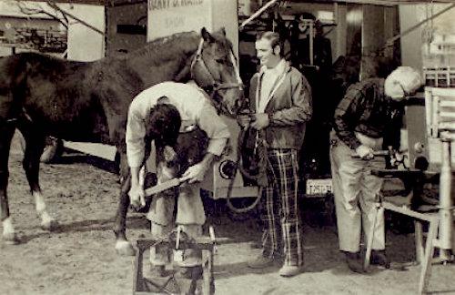 Smoky Ward and Danny Ward shoeing a horse