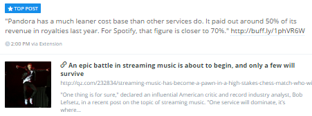 http://qz.com/232834/streaming-music-has-become-a-pawn-in-a-high-stakes-chess-match-who-will-win-and-why/?utm_content=buffera41aa&utm_medium=social&utm_source=linkedin.com&utm_campaign=buffer#/h/88797,3,88803,1,88807,1,88809,1/