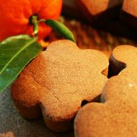 Galletas choco-mandarina