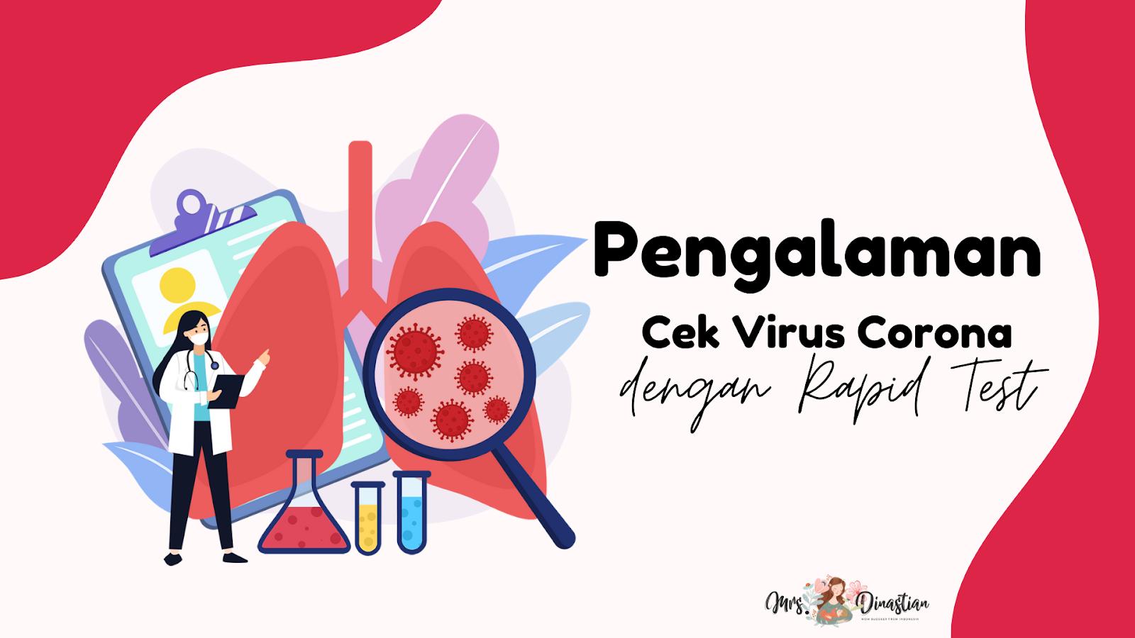 Pengalaman Cek Virus Corona