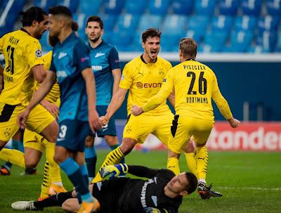 ملخص واهداف مباراة بوروسيا دورتموند وزينيت (2-1) دوري ابطال اوروبا