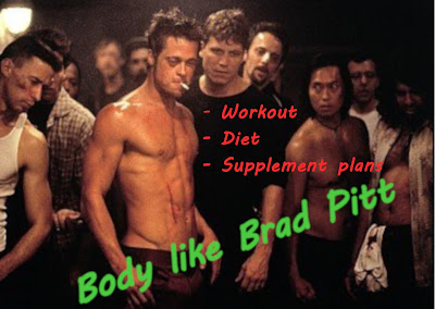 Brad Pitt Fight Club workout & diet. StrengthFighter.com