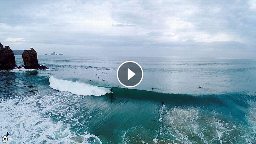 Sweet December Surf Drone 4K