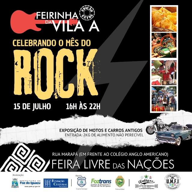 Feirinha da Vila A terá edição especial para o Mês do Rock nesta quinta-feira (15)