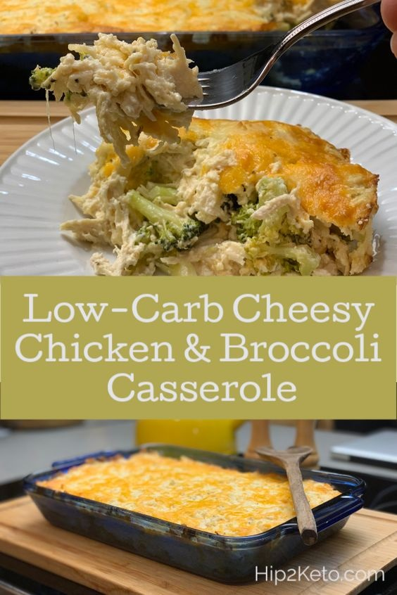 Keto Chicken, Broccoli And Cheese Casserole