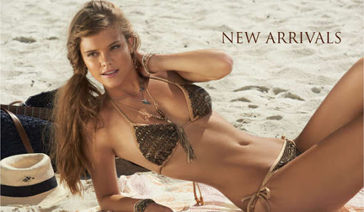 Nina Agdal bikini body on LeMar Swimwear