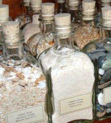 beach sand bottle collection