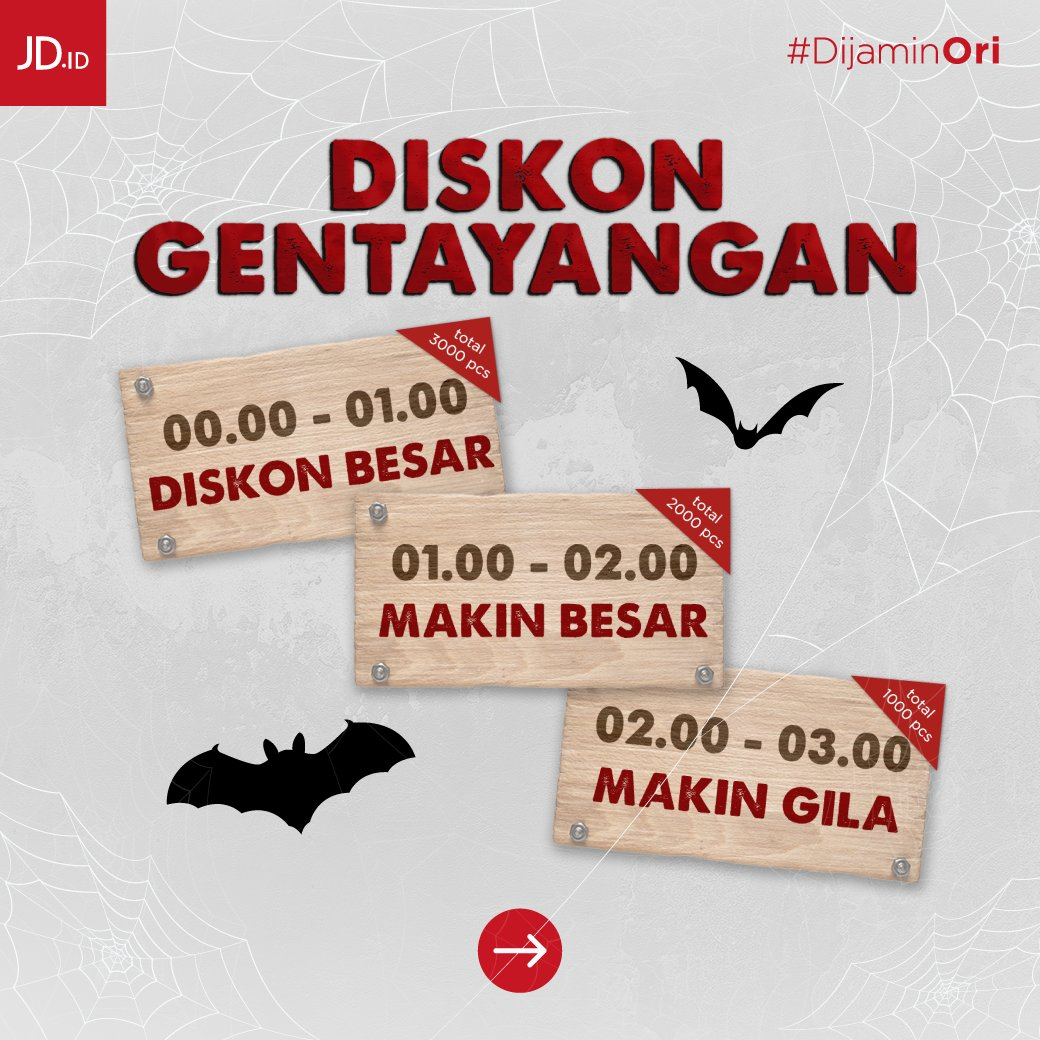 JdID - Promo Diskon Gentayangan di Spesial Pengabdi Promo & Voucher 1 Milyar ( s.d 09 Okt 2018)
