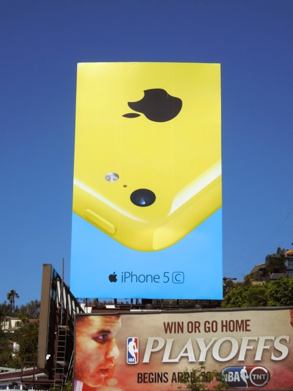 yellow iPhone 5c billboard