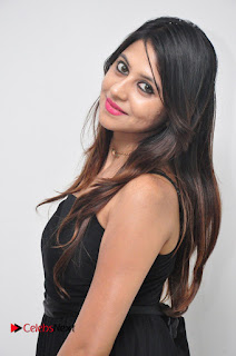 Model Nikita Chhabria Pictures in Black Dress at Yes Mart Event 0007
