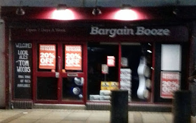 The Bargain Booze off-licence shop in Brigg which will be closing on January 25, 2019 - picture on Nigel Fisher's Brigg Blog