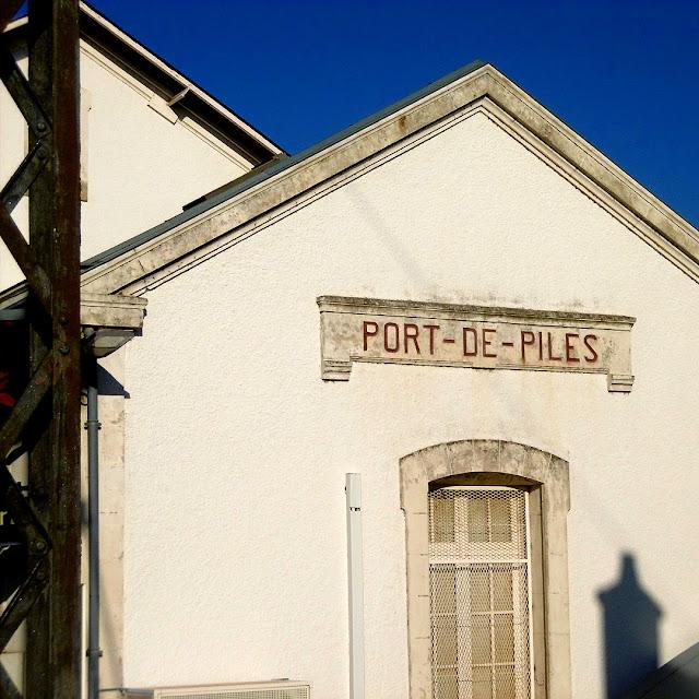 Port de Piles railway station, Indre et Loire, France. Photo by Loire Valley Time Travel.
