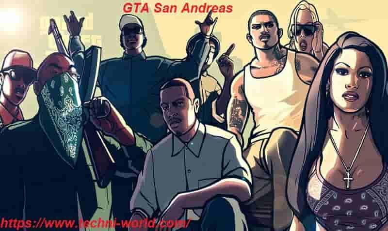 تحميل لعبة GTA San Andreas الاصلية للكمبيوتر مضغوطة