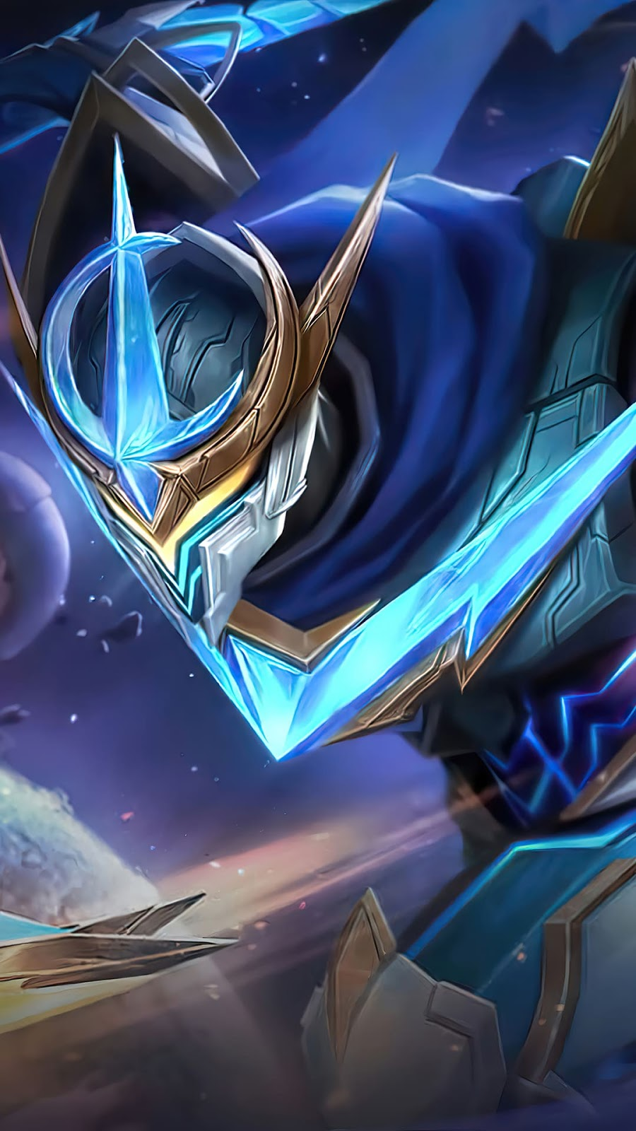 Wallpaper Gusion Cosmic Gleam Skin Mobile Legends HD for Android and iOS
