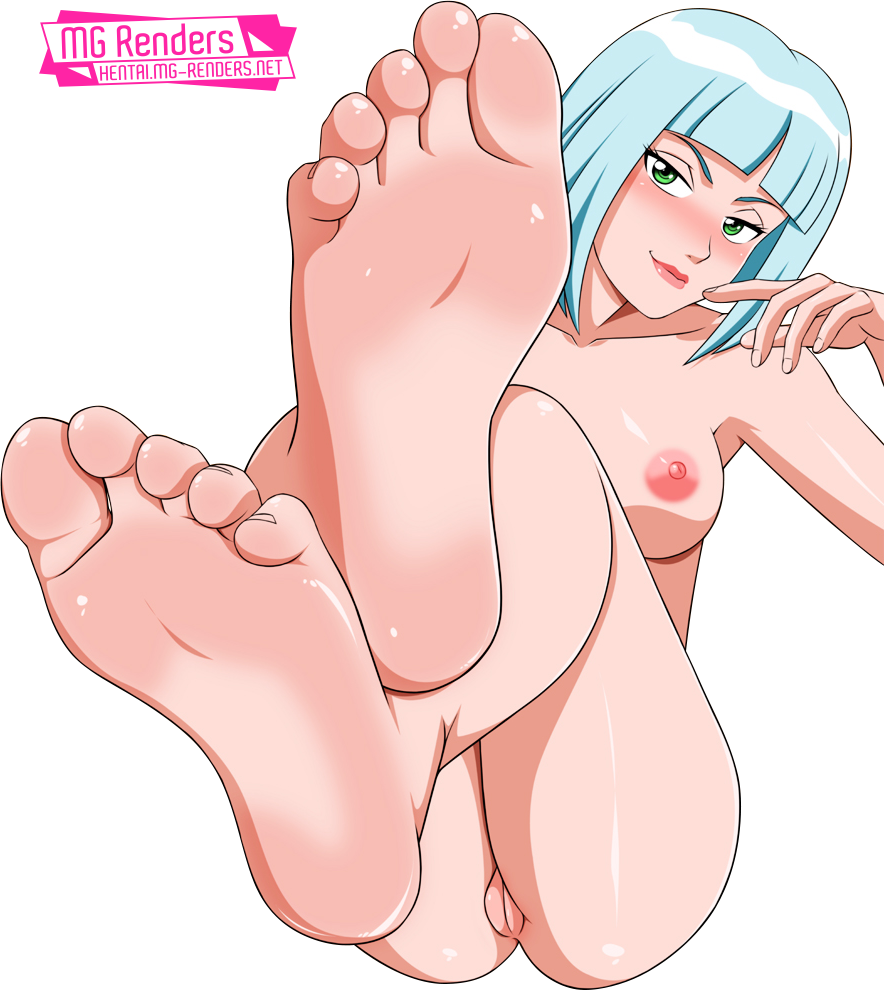 Tags: Image, Picture, Render, Anime, Hentai Ass, Barefoot, Blue hair, Crossed legs, Feet, Major Lazer, Naked, Ecchi, 裸, Nipples, No bra, No panties, Penny Whitewall, Short hair, Vagina, PNG