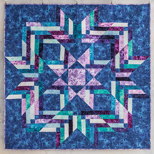 Braided Star Quilt Free Pattern Designed by Angela Walters of Quilting Is My Therapy for the Midnight Quilt Show by Bluprint