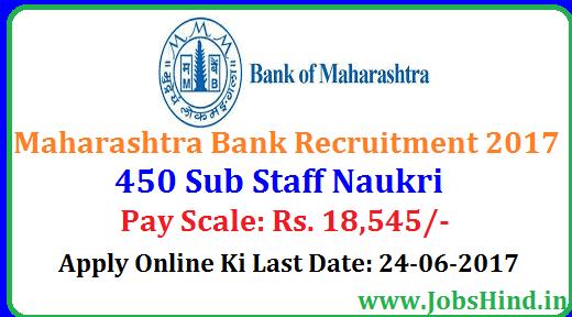 Maharashtra Bank Recruitment 2017