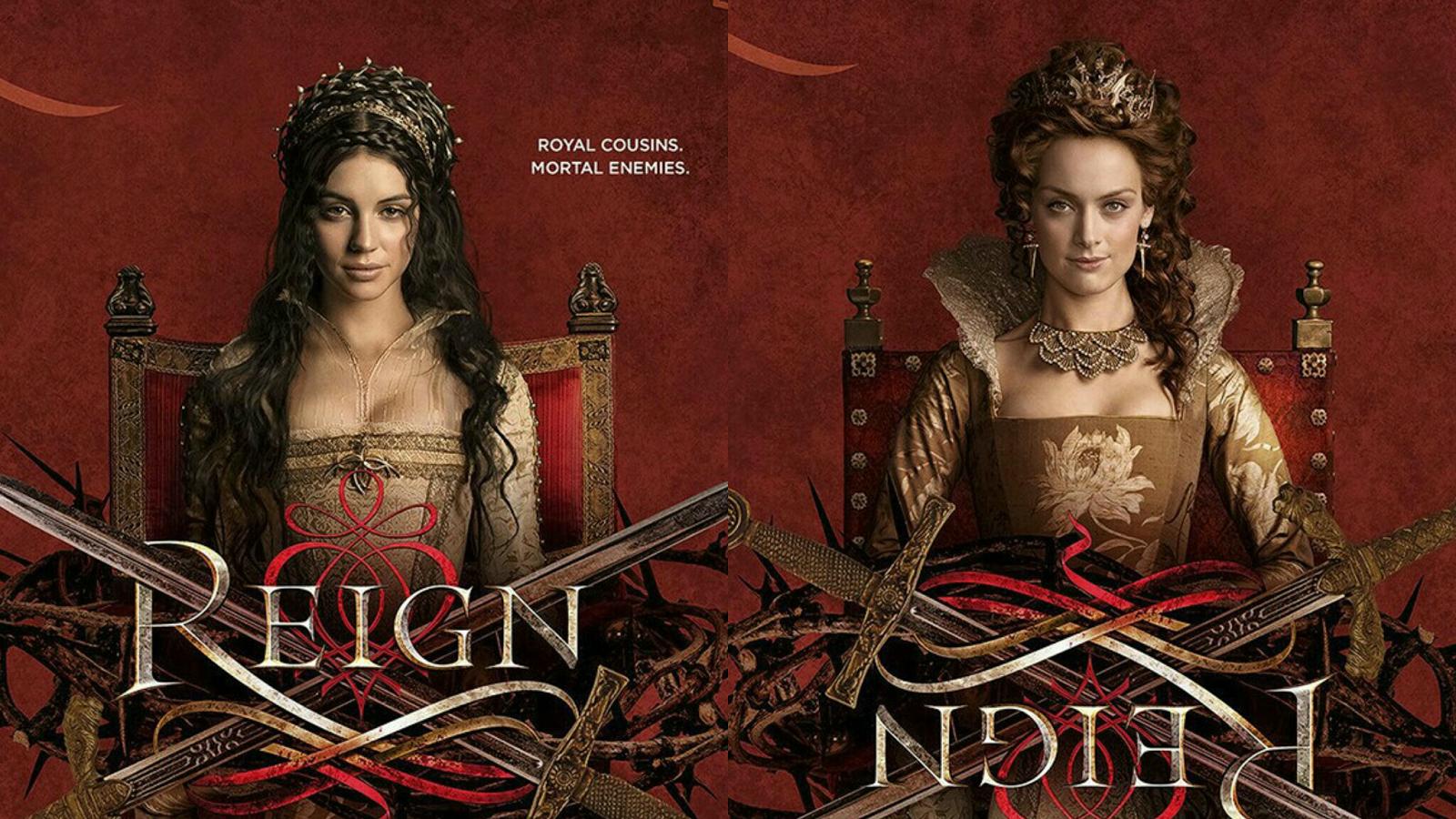 Reign Season 3 - Promo Poster, Mary (Adelaide Kane) and Elizabeth (Rachel Skarsten)