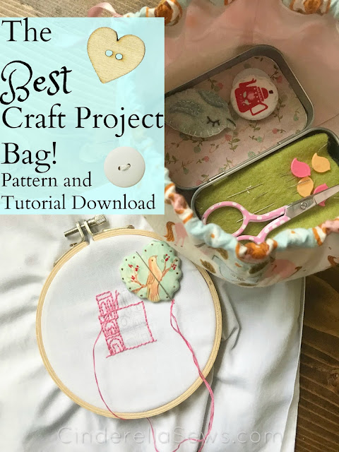 Use this beginner sewing pattern and tutorial to make the cutest drawstring bag for kid's toys, Easter egg hunts, and small craft projects to stay organized with style! #sewing #bag #sewingpattern #sewingproject #sewingtutorial #crafts #easter