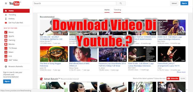 Cara Mudah Download Video Di Youtube Tanpa Menggunakan Aplikasi Di PC Maupun Di Android
