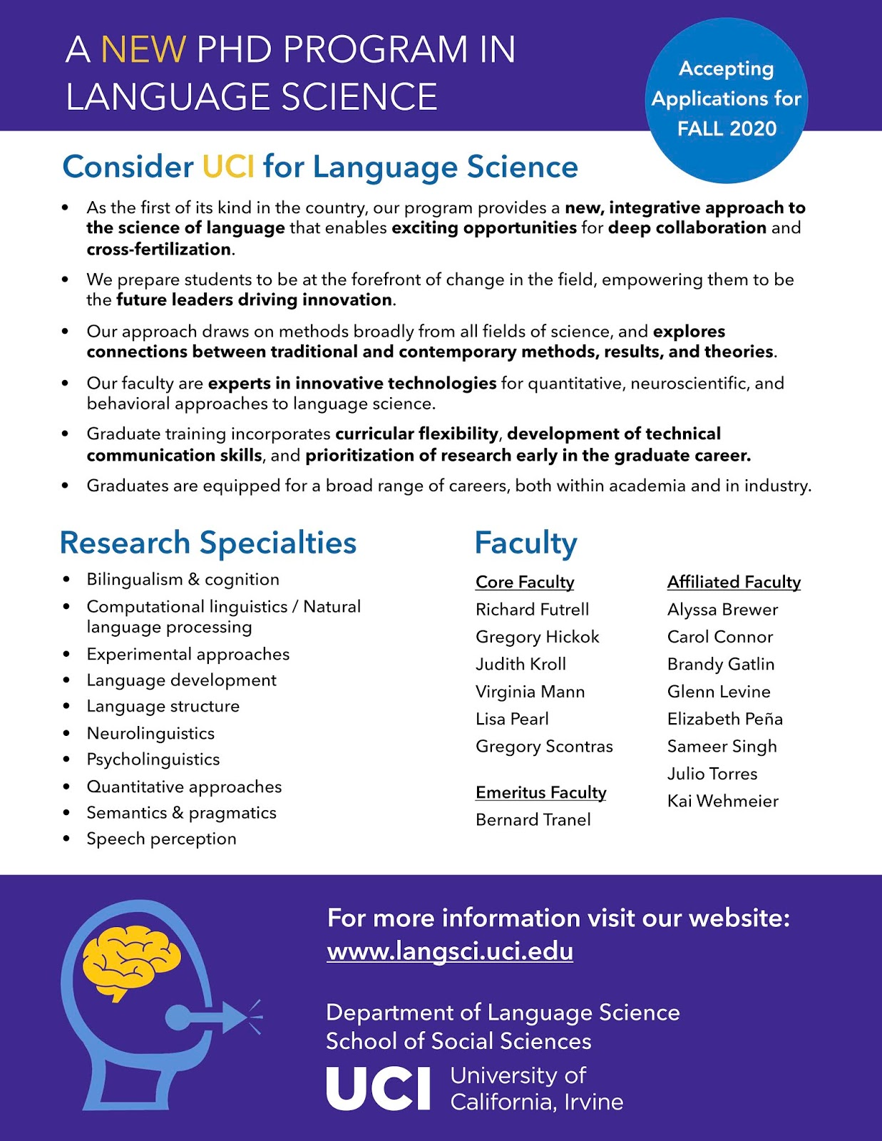 Uci Graduation 2020.Talking Brains Phd In Language Science At Uc Irvine